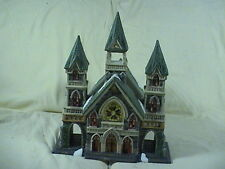 Santa's Work Bench Classic series Lighted Trinity Church 1999, Original Box