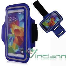 Armband fascia braccio Sport per Samsung Galaxy S5 G900F custodia BLU corsa