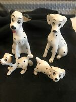 Set of four walt disney 101 dalmations figurines
