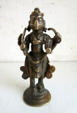 Antique Old Rare Hand Made Brass Hindu Lord Shiv Incarnation Kaal Bhairav Statue