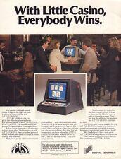 Little Casino 1983 Digital Controls Arcade Advertisement  092717DBE
