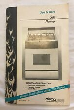 Dacor Gas Range?Oven Use & Care Guide Manual