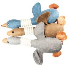 "Blue Gray Brown Duck Pet Bite 13"" Plush Toy Set of 3"