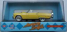 Motormax - 1956 Ford Thunderbird Cabrio gelb 1:43 Neu/OVP Modellauto