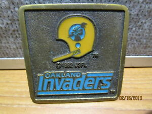 Vintage USFL Oakland Invaders 1982 Belt Buckle