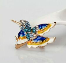 Kingfisher Crystal Enamel Brooch birthday Christmas wedding Mothers day 908
