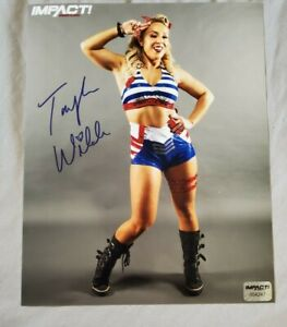 TAYLOR WILDE Autographed Official IMPACT Wrestling 8x10 Photo w/ Hologram COA