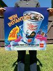 MCDONALD'S MAC TONIGHT BLAST BACK TRANSLITE SIGN 1989 80s Vintage Poster Cup