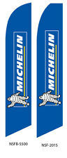 TWO Michelin Tires 15 foot Swooper Feather Flag Sign