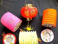8 Color Papel Chino Rojo Dorado Suerte Linterna Año Nuevo Cumpleaños Bodas Fiestas Deco