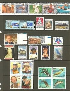 US 1990 Commemorative Year Set with 26 Stamps MNH