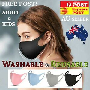 Washable Adult or Kids Unisex Face Mask Mouth Masks Protective Reusable AU STOCK
