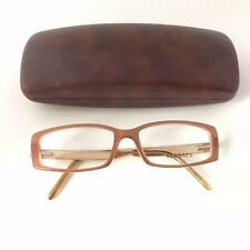 New 100% Authentic Versace Eyeglasses Frames  Brown/ Gold MOD. 3093-B 592 Italy