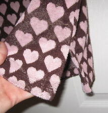 JUICY COUTURE PREPPY PINK HEART TERRY CLOTH HOODIE S BEACH COVER UP