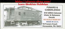 LMH Funaro F&C 510 U&D ULSTER & DELAWARE Caboose 1924-1936 USRA Standard Wood