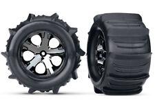 Traxxas 3689 2.8 Paddle Sand Tires Black Chrome All Star Wheels Rear TRA3689