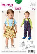 BURDA SEWING PATTERN KIDS BIBBED TROUSERS PINAFORE SKIRT TOP 3M - 2 YRS 9372