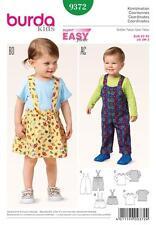 BURDA COUTURE MOTIF ENFANTS salopette Pantalons Pinafore Jupe 3M - 2 ans 9372