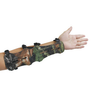 Leather Shooting Archery Arm Guard Protector Safe 4 Straps, Camouflage