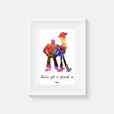 Toy story inspired, print, poster, disney, quote, wall art, gift, picture, decor