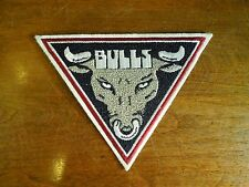 Chicago Bulls Basketball NBA Embroidered Patch Triangle with Bull