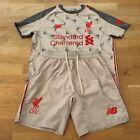 Liverpool FC #9 FIRMINO 2018-19 Kids Football 3rd Kit Size 9-10 Years Grey
