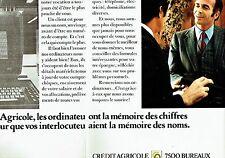 PUBLICITE ADVERTISING 037  1972  Crédit Agricole  banque  (2p)  les ordinateurs