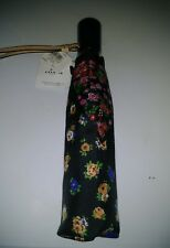 COACH 59246 TEA ROSE and POSEY Flower Cluster UMBRELLA Black Pink