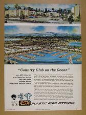 1968 Bar Harbor apartment complex Marina Del Rey CA art GSR Fittings print Ad