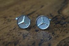 MERCEDES CHROME CUFFLINKS GREAT QUALITY NEW FREE POUCH
