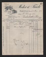 Berlín, factura 1912, Meder & Thiele señora-ropa