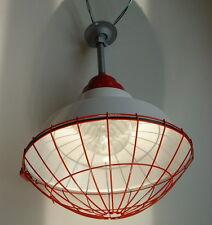 """1 Pyle National 16"""" RED Explosion Proof Porcelain Light Industrial Globe Vintage"""