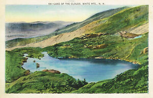 Vintage Lake of the Clouds Linen Postcard White Mtns New Hampshire 1937 Postmark