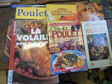 lot de 6 livres et magazines sur les recettes de volailles, poulets