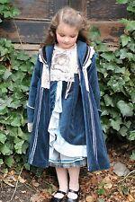 Coat Girls 116 6 Dutch Jottum Rembrandt Prussian Blue Velvet $1,500
