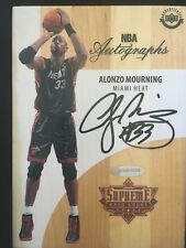 Alonzo Mourning Miami Heat Autographed Game Used Supreme Hard Court Upper Deck