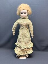 Vintage Porcelain Doll 18 Inches Tall Eyes Open And Shut With Stand