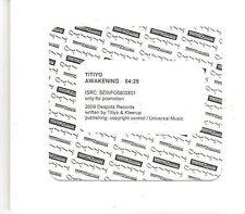 (EK674) Titiyo, Awakening - 2009 unopened DJ CD