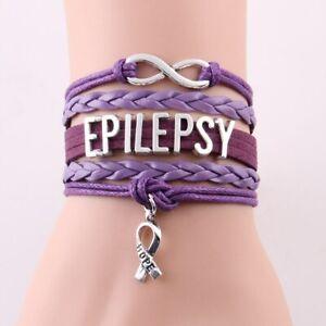 Epilepsy - Infinity Cord Charm Bracelet Jewelry