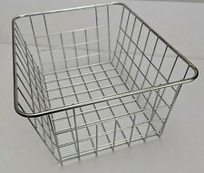 Chrome, silver metal wire storage basket, multi purpose rust resistant