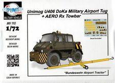 Planet Models 129-MV110 - 1/72 Unimog U406 Doka Military Airport Tug + AE - New