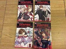 Vampire Knight Lot Vol. 1, 2, 5, 6 Matsuri Hino (Paperback) Shojo Beat Manga
