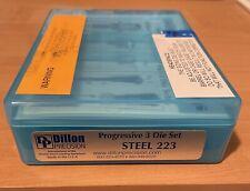 NEW SEALED DILLON .223 5.56 STEEL DIE SET 10839 223 556. DILLON PRECISION DIES