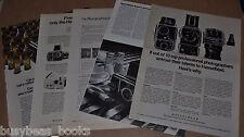 1969-81 HASSELBLAD Camera advertisements x5, 500 C/M etc