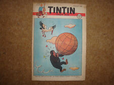 1948 Tintin Journal with Herge cover illustration from Jo, Zette & Jocko