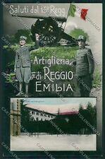 Reggio Emilia città Militari Saluti da Foto cartolina QK0259