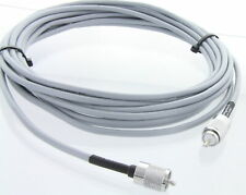 USA Made RG8X (Gray) Coax Cable w/ Soldered Thread-On PL259 Connectors, 35FT
