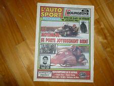 L'AUTO SPORTS MOTEUR NEWSPAPER MAGAZINE 1992 F1 SNOWMOBILES PLUS EXT INDY MOTO