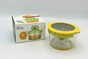 4 In 1 Multi Function Hand Manual Juicer Citrus Squeezer - Grater - Measures