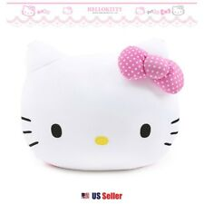Sanrio Hello Kitty Face Bean Cushion Round Pillow Bedding Home Deco : Pink Bow